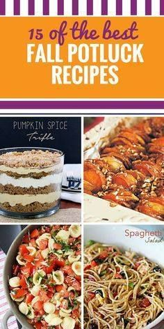 15 Fall Potluck Reci 15 Fall Potluck Recipes. Autumn is a great...  15 Fall Potluck Reci 15 Fall Potluck Recipes. Autumn is a great time to get together and you can really focus on friends and family if everyone contributes a dish. Whether youve been asked to bring a healthy salad dessert or yummy side to dinner youll be the talk of the Recipe : http://ift.tt/1hGiZgA And @ItsNutella  http://ift.tt/2v8iUYW