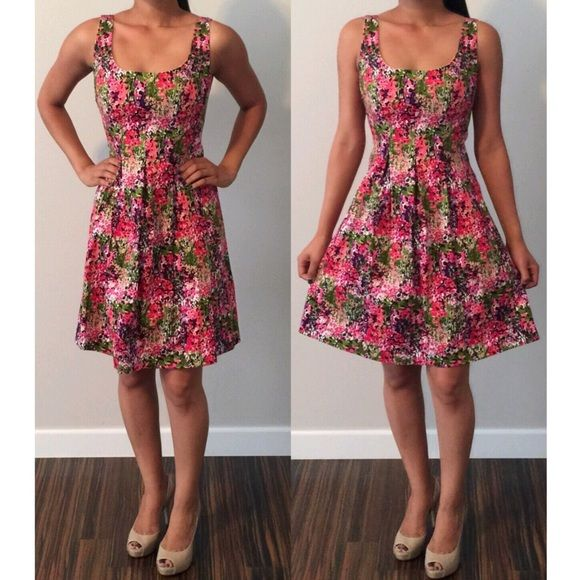 Like New Nine West Floral Tulip Dress! Such a cute dress!! Only worn once! In great condition! size says 2, can fit a small as well  Nine West Dresses