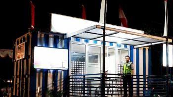Kreatif, Pos Polisi di Lombok Pakai Kontainer Bekas