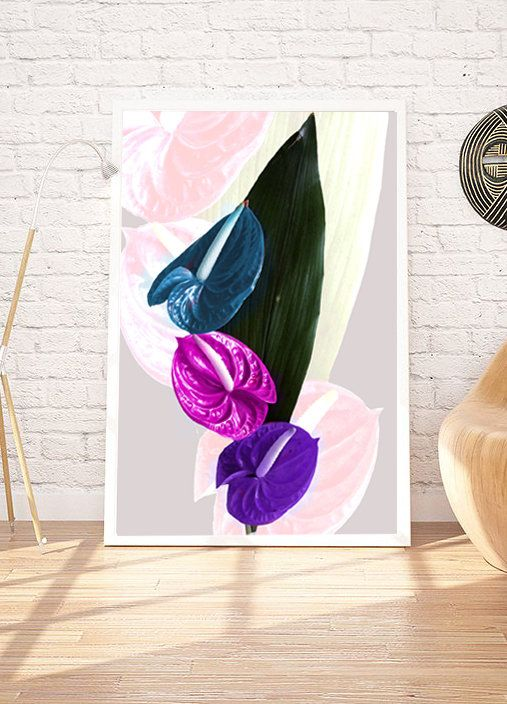 Poster Printable Flower Poster Digital Print Digital