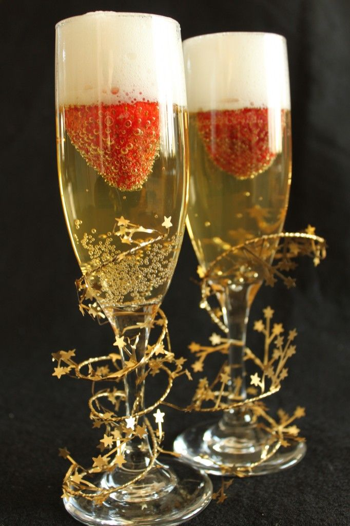 Strawberries & champagne for brunch