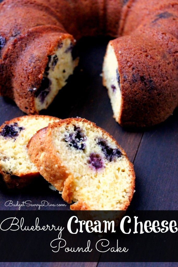 Perfect Breakfast Recipe - Cost under $5 and SUPER easy to make! Blueberry Cream Cheese Pound Cake Recipe
