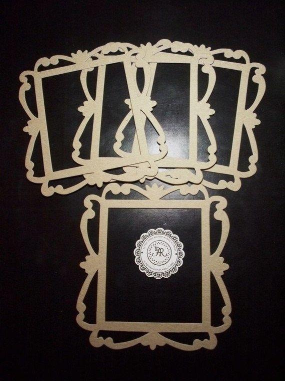 20 chipboard fancy borders frames die cut set of 3 for mini albums photo frames bulk available - Mini Picture Frames Bulk