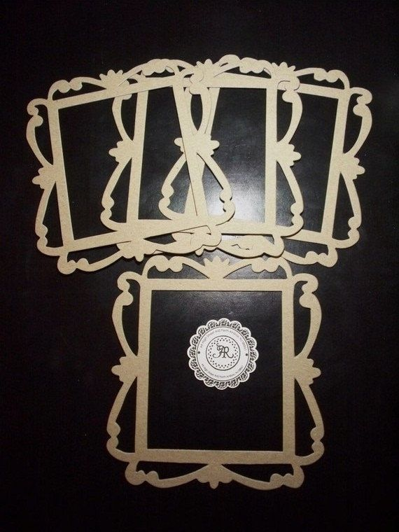 20 chipboard fancy borders frames die cut set of 3 for for Craft picture frames bulk