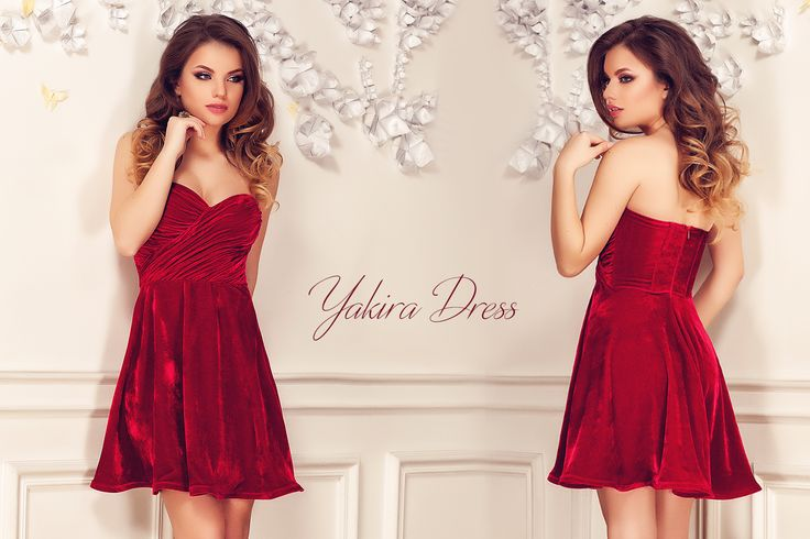Short elegant red dress made from velvet with folds at the bust: https://missgrey.org/en/dresses/short-red-elegant-dress-made-from-velvet-with-folded-bust-and-cups-yakira/469?utm_campaign=decembrie&utm_medium=rochie_yakira_rosie&utm_source=pinterest_produs