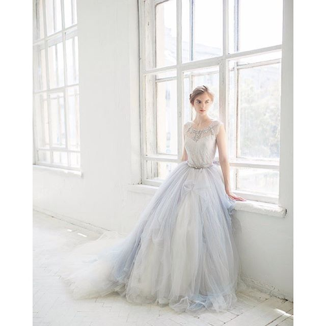 Dreamy, ethereal, and absolutely gorgeous, this 'hint of blue' wedding gown makes such a bea... @liketoknow.it www.liketk.it/1LVO4 #liketkit