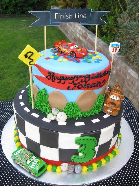 Cars b-day cake