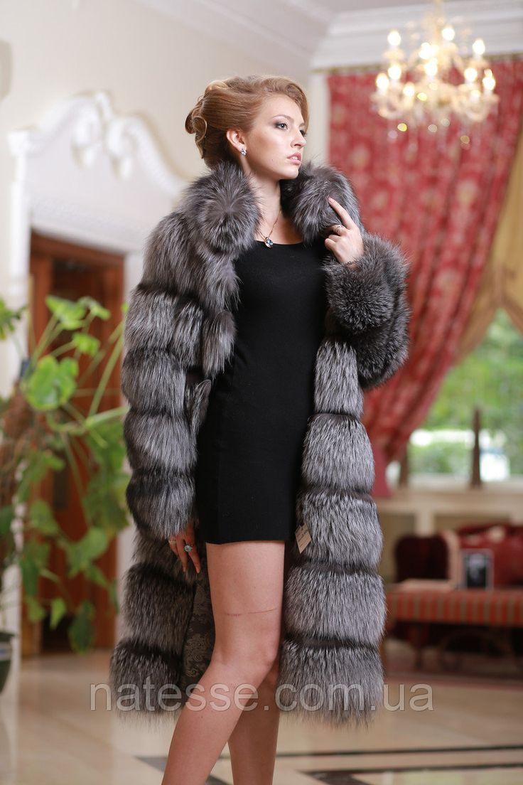 """Шуба полушубок жилет из чернобурки (перфорация) silver fox fur coat vest gilet sleeveless over coat: продажа, цена в Днепре. шубы женские от """"Меховой Салон-Ателье «Natesse»"""" - 129454698"""