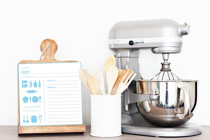 NIEN // Zo'n receptenkaartje staat ook nog een leuk in jouw keuken