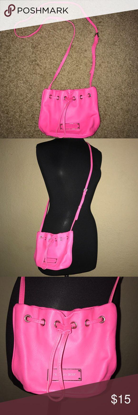 Victoria's Secret Crossbody Bag Pink colored crossbody bag from Victoria's Secret with silver details. Adjustable strap. Victoria's Secret Bags Crossbody Bags