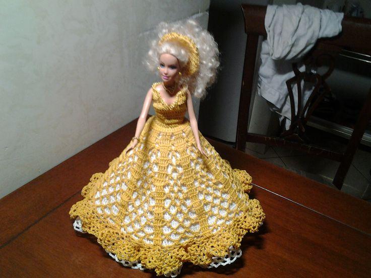 Vestito barbie uncinetto