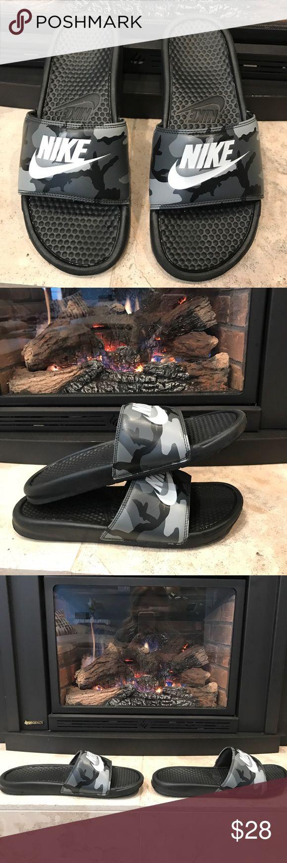 Nike Slides Men's Camo Nike benassi Camo Print.. barely worn⭐️⭐️ Nike Shoes Sandals & Flip-Flops
