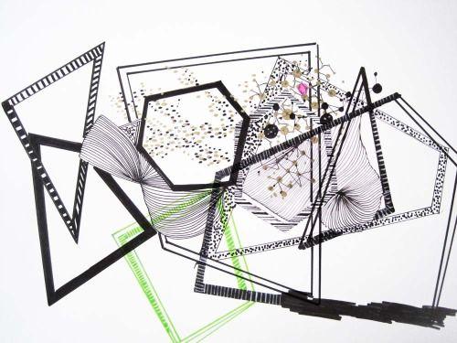 Geek Art  #abstractart #electrons #molecules #sort codes #binary