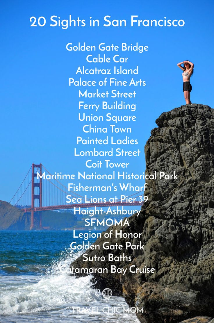 Travel Chic Mom Check List: 20 Sights in San Francisco - The Must See To Do List!                                                                                                                                                                                 More