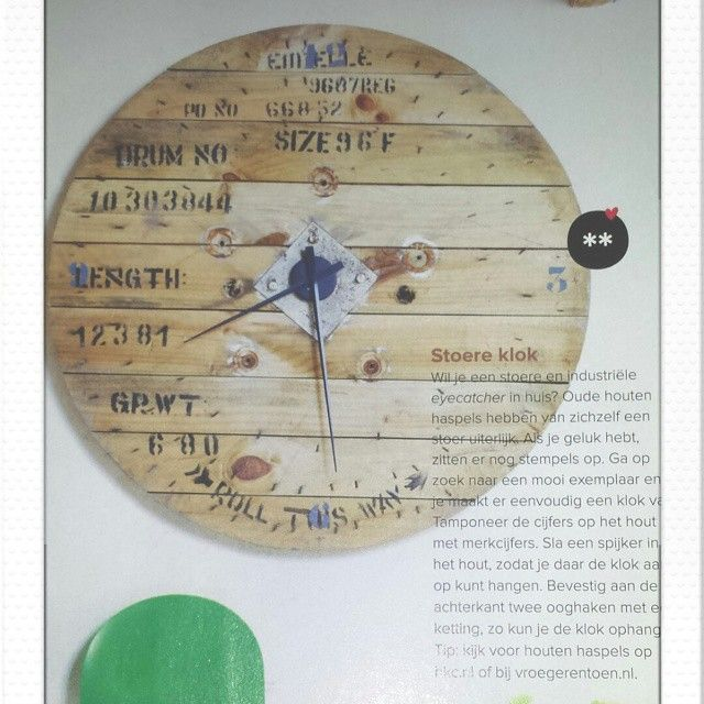 Spotted in #vtwonen DIY. Clock made with NeXtime hands www.nextimestore.com