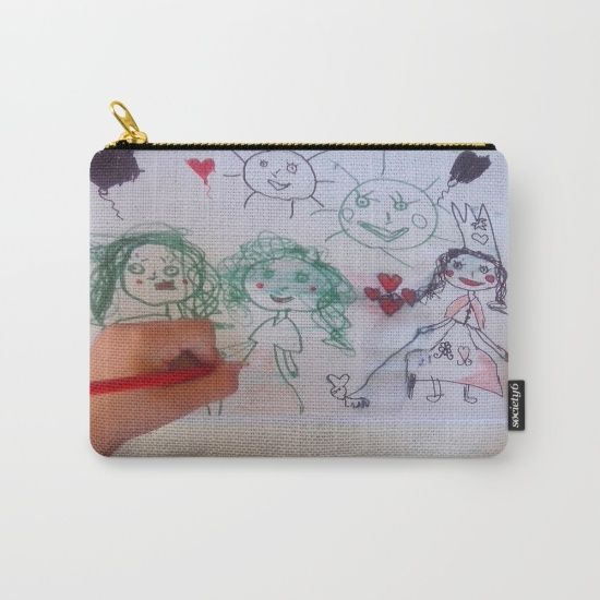 15% OFF+FREE WORLDWIDE SHIPPING ON EVERYTHING  #society6design #societyart #society6artwork #society6shop #Christmas https://society6.com/product/me-and-my-friends-kids-drawing_carry-all-pouch#s6-6302599p51a67v445
