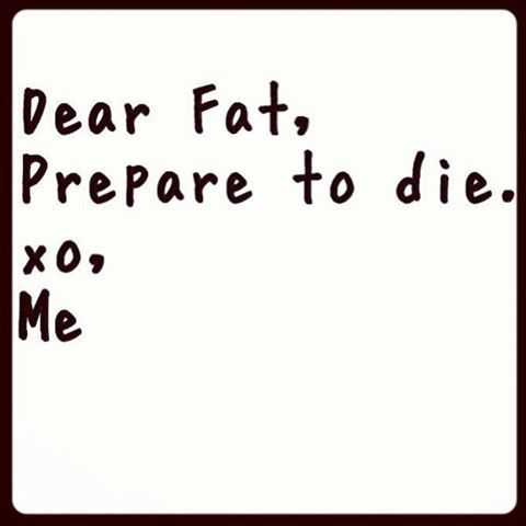 Dear Fat, Prepare To Die: