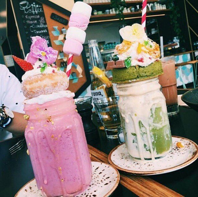 Marshmallow and macaron all day long. Shake it till' you make it!  Amazing…