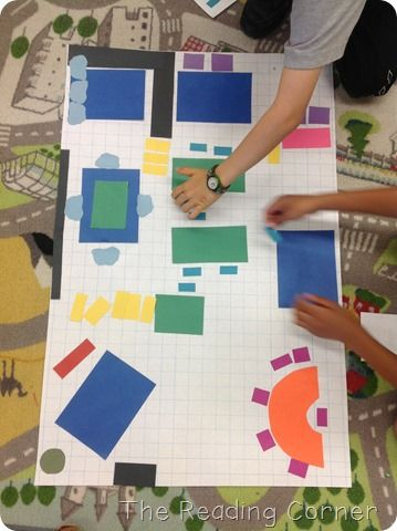 Mapping the Classroom....did this with kindergarten ears and they loved it! Great team activity