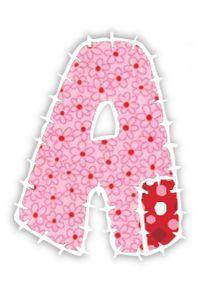 ALFABETOS LINDOS: Alfabeto de retalhos coloridos Patckwork