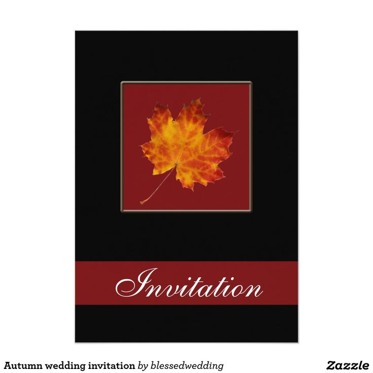 zazzle wedding invitations promo code%0A Autumn wedding invitation     x     invitation card