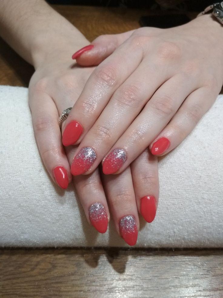 red gel, silver glitter