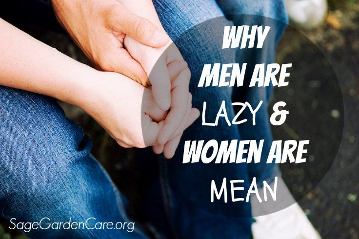 Why Men are Lazy & Women are Mean! {a post on marriage and communication from Chuck Taylor, Pastoral Life Coach at Sage Garden Care Center}