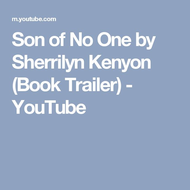 Son of No One by Sherrilyn Kenyon (Book Trailer) - YouTube