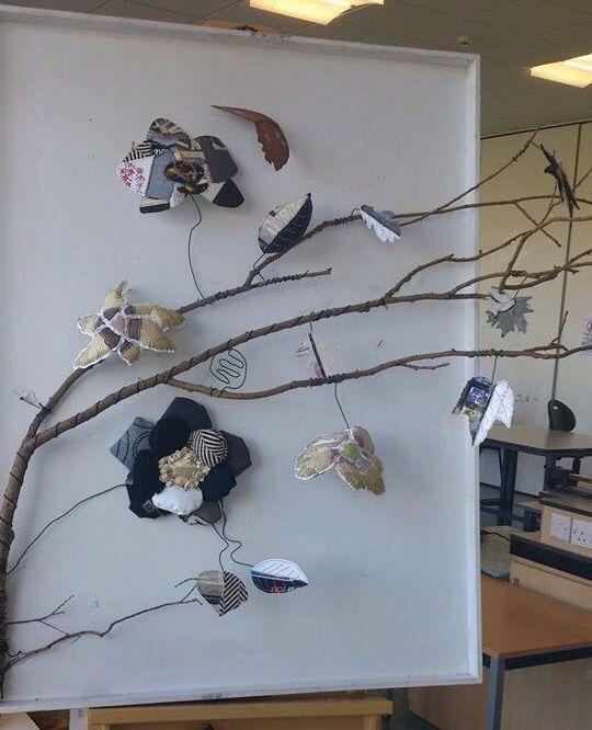 Piece I made with the inspiration of Abubakirova Albina out of recycled materials  Former student of Lytham High