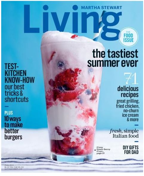 Remember? We were featured in Martha Stewart's Tastiest Summer Ever story! Here's hoping we'll be part of someone's Tastiest Winter Ever...