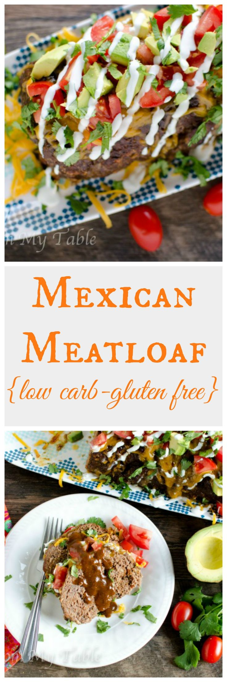 Need a satisfying dinner that sticks with you without all the carbs?  This Low Carb Mexican Meatloaf comes together so easily and will keep you content until your next meal!  What a great substitute for Taco Tuesday!