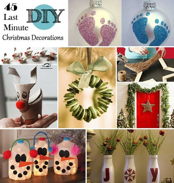 45 Spending Budget-Friendly Last Minute DIY Christmas Decorations