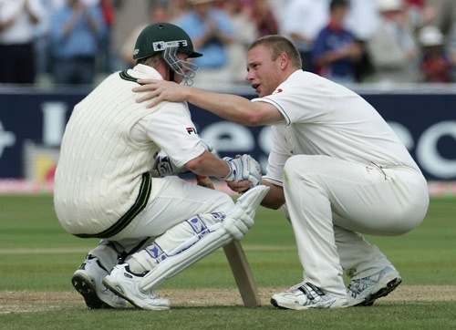 Freddie Flintoff. Ashes 2005. Cricket. Legend.