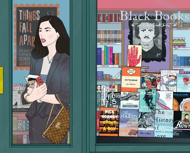 What A Kerfuffle! An Art Blog.: Liu Wen Cartoon / Bookstore Illustration