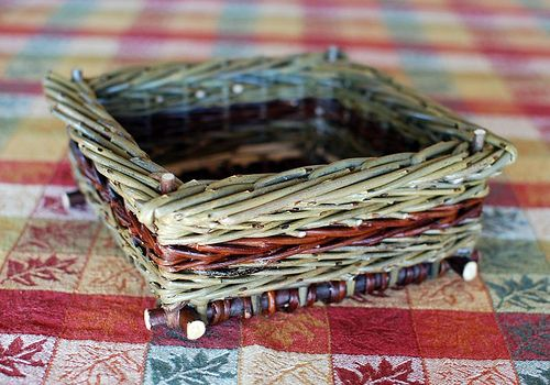Square Willow basket by Katherine Lewis.