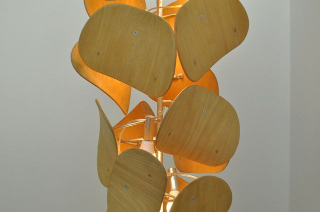 Petals - Chandelier made of used school chair backs