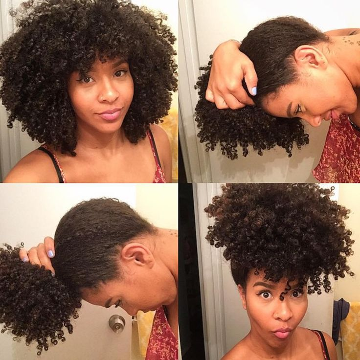Pineapple Puff Natural Hair