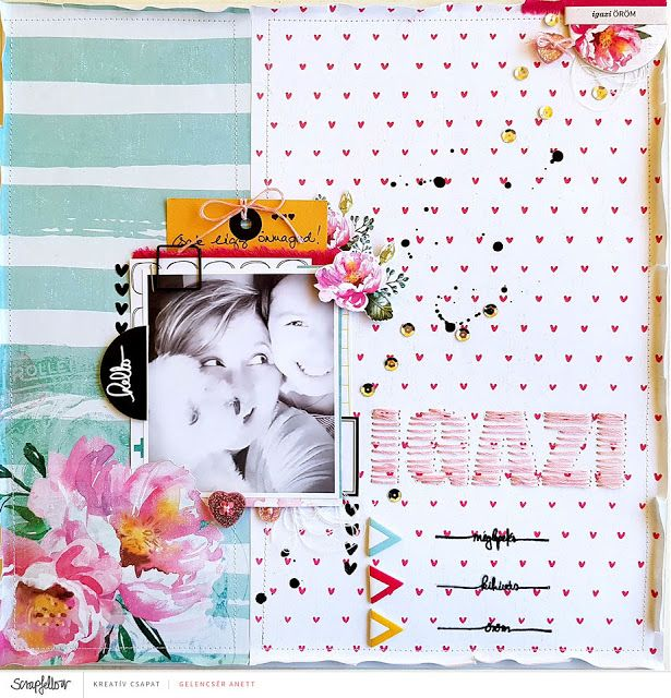 Real - scrapbook layout + process video