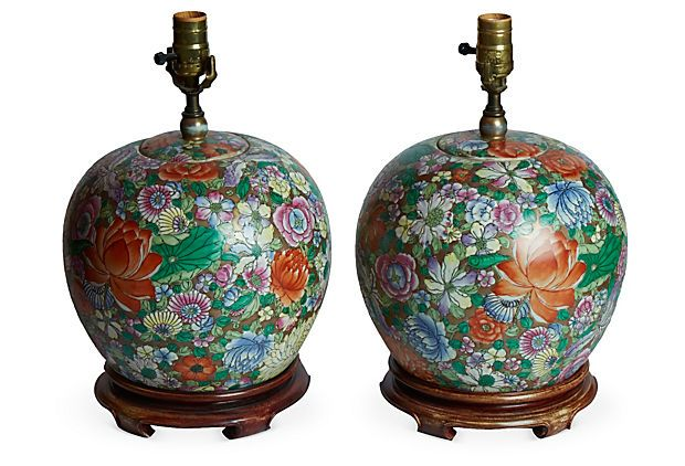Vintage Chinese Lamps, Pair on OneKingsLane.com