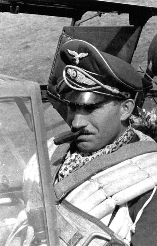"Adolf ""Dolfo"" Joseph Ferdinand Galland (March 19, 1912-February 9, 1996) German Aviator Luftwaffe Germany"