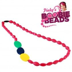 Pinky's Boobie Beads - Magenta Nursing Jewellry
