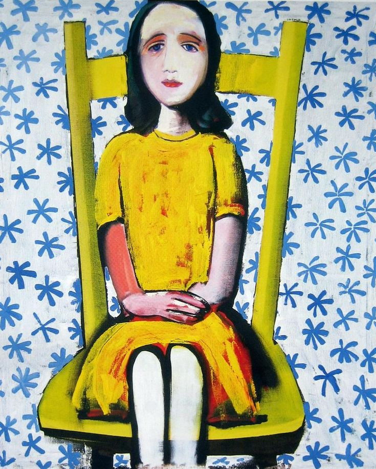 Charles Blackman ~ Girl Seated