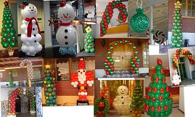 24 best images about decoraciones con globos para navidad - Decoracion de navidad con globos ...