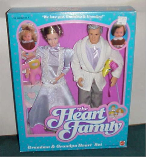 "Barbie Heart Family- GRANDPARENTS  Did you know they had ""old"" Barbie dolls??"