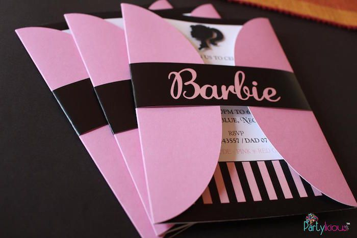 Invitation from a Barbie Fashion Birthday Party via Kara's Party Ideas |The Place for All Things Party! KarasPartyIdeas.com (35)
