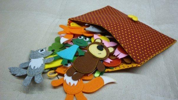 Сказки в кармашке. Игрушки из фетра. Идеи для вдохновения.