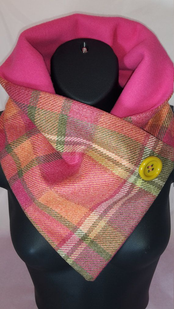Tartan Pink and Orange Neckwarmer / Short by TheBonnieCollection