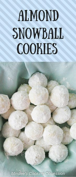 Almond snowball cookies are a fun, out of the norm cookie! Rolled in powdered sugar, these almond butter cookies will melt in mouth! via @https://www.pinterest.com/mindeescooking/