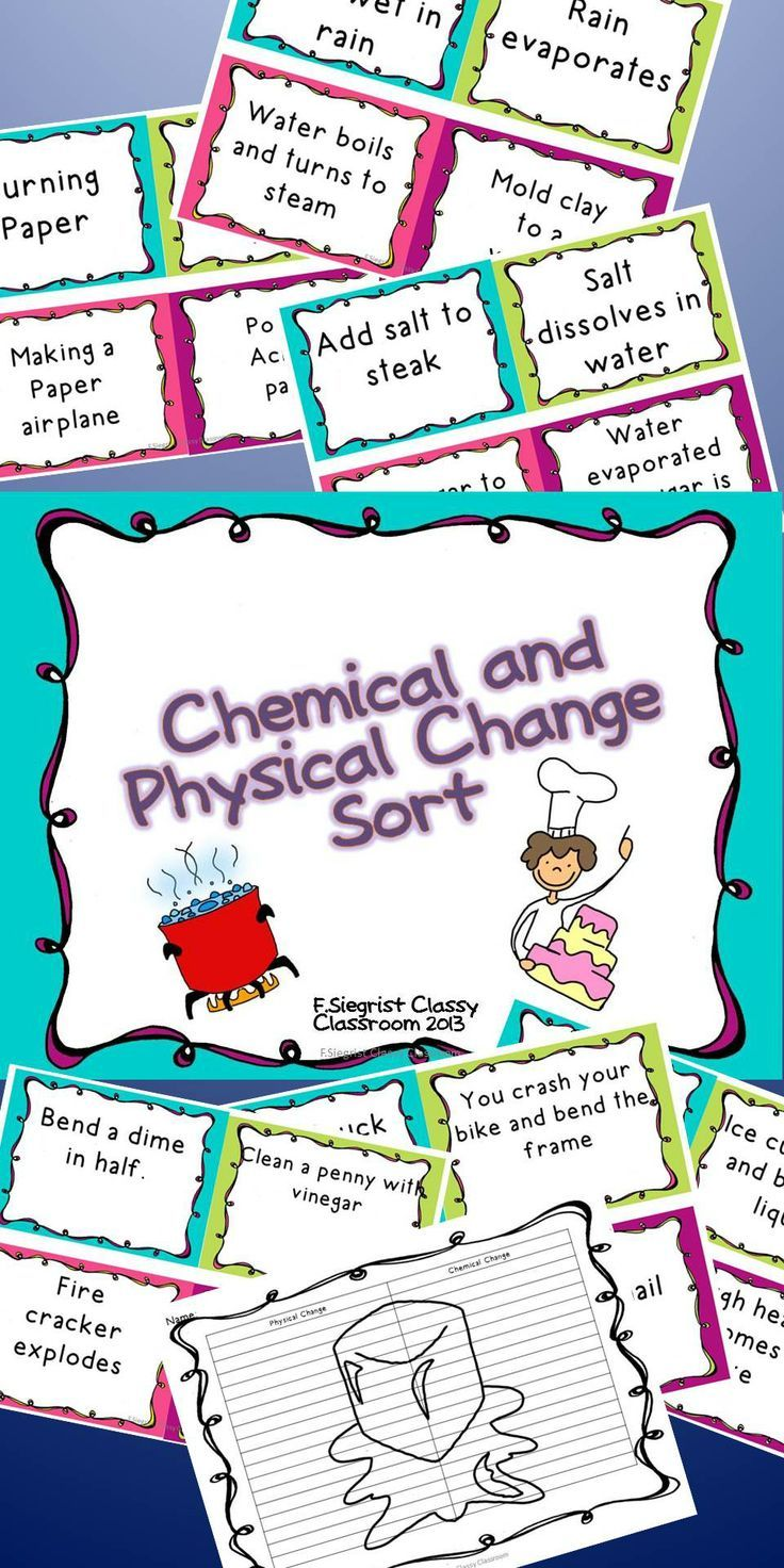 37 best physical and chemical change images on pinterest this is a quick and fun way to check your students knowledge on physical and chemical robcynllc Image collections
