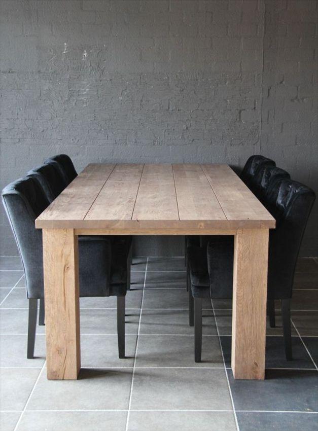Keuken Eikenhout : Glad Eikenhout Vele Uitvoeringen Zijn Mogelijk Eiken Eettafel Maatwerk